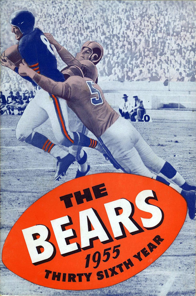 NFL Media Guide/Yearbook cover - Chicago Bears 1955