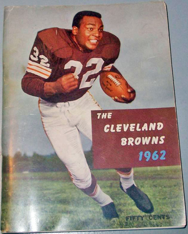 NFL Media Guide/Yearbook cover - Cleveland Browns 1962