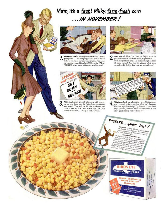 Vintage Thanksgiving ad - Birds Eye (1942)