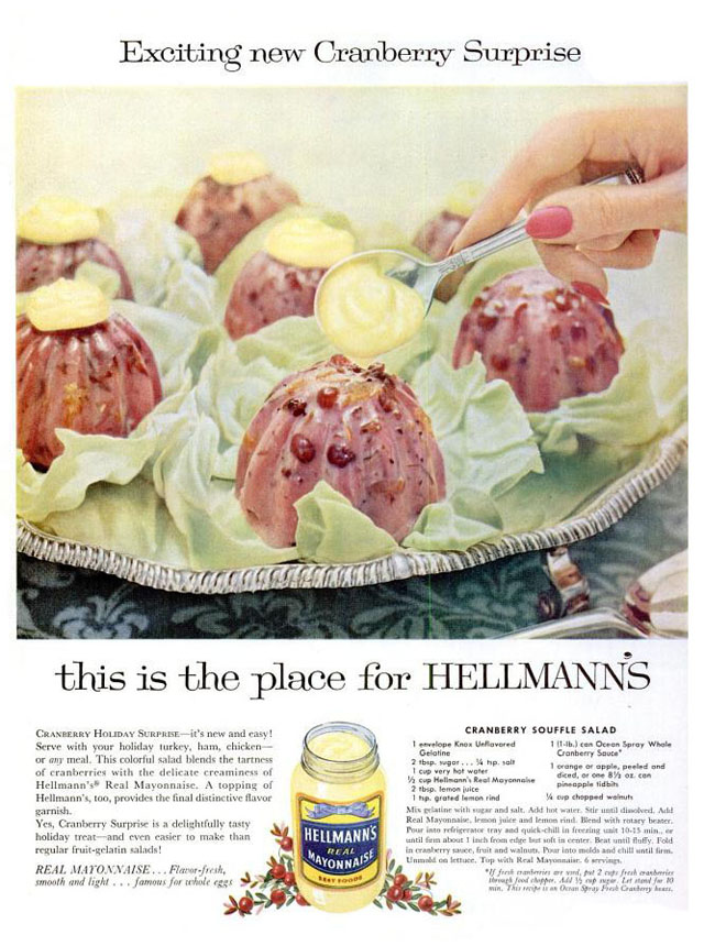 Vintage Thanksgiving ad - Hellman's (1958)