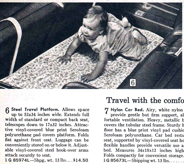 Sears 1969 Fall/Winter Catalog - Baby Car Seat Travel Platform