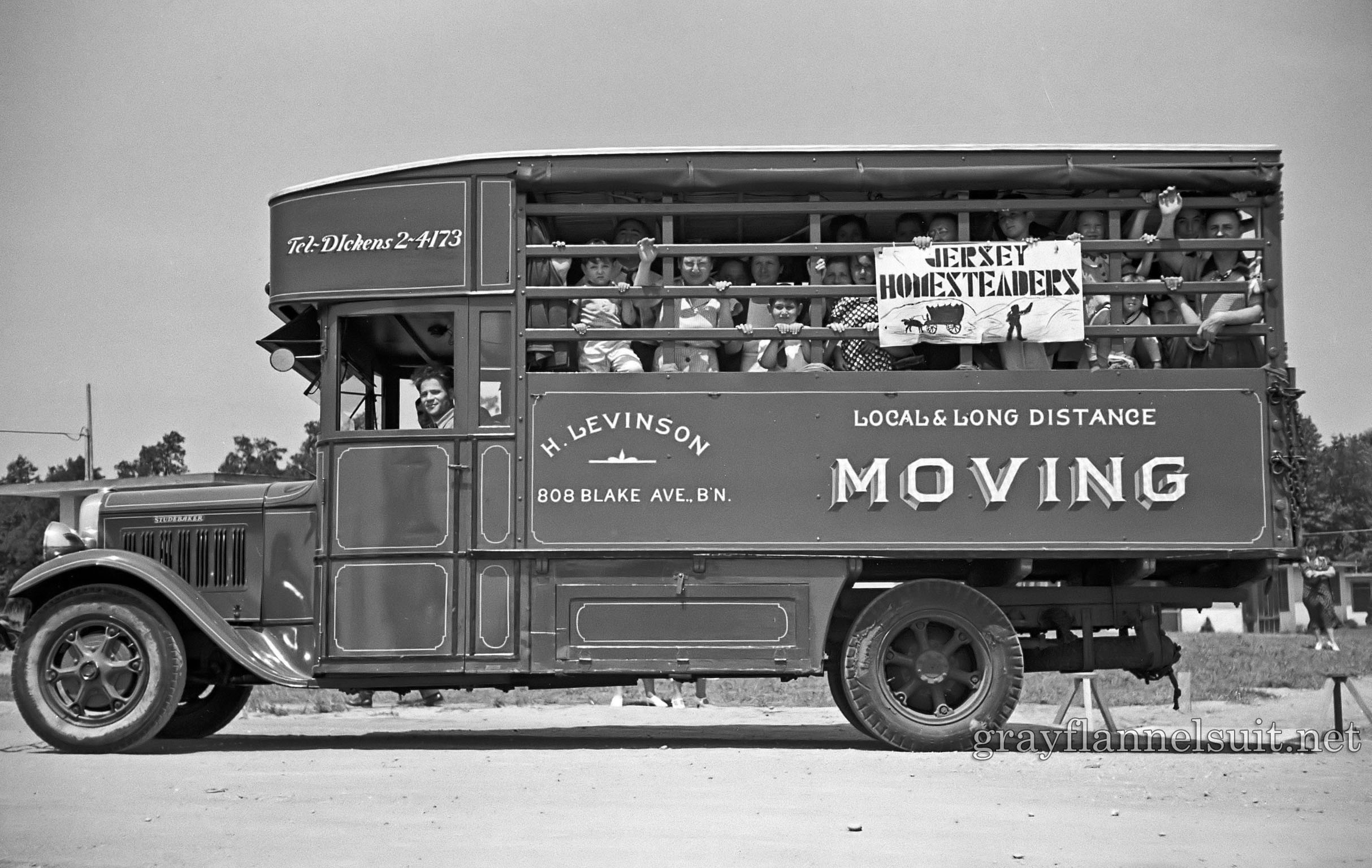 Jersey Homestead Garment Factory Bus, 1936