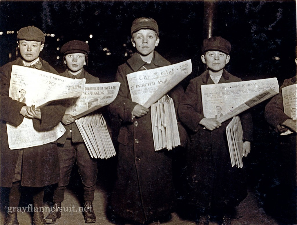 Vintage Photo Wednesday, Vol. 22: Hudson Tunnel Station Newsies, 1909
