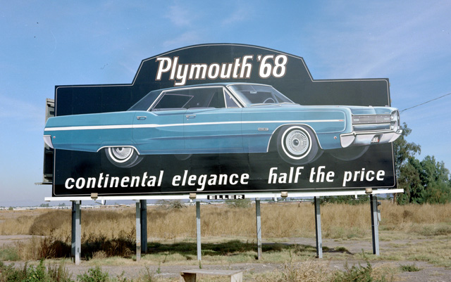 Plymouth Fury 1968 billboard ad