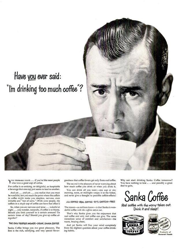 Vintage Sanka coffee ad (1949)