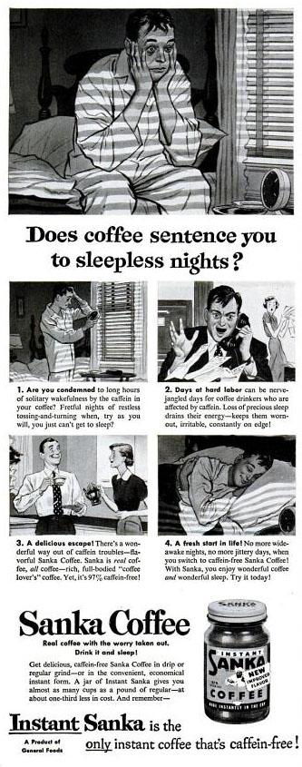 Vintage Sanka coffee ad (1951)