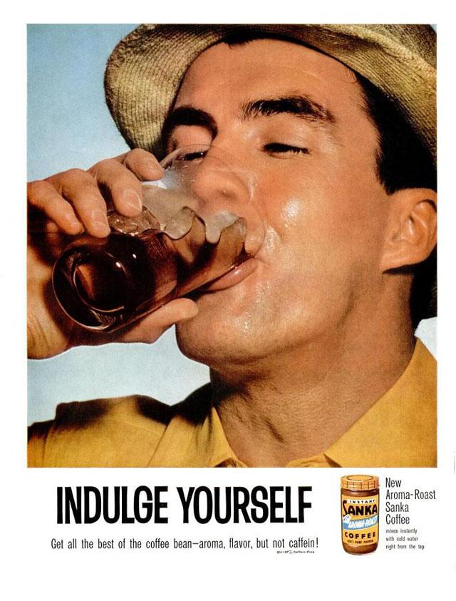 Vintage Sanka coffee ad (1960)