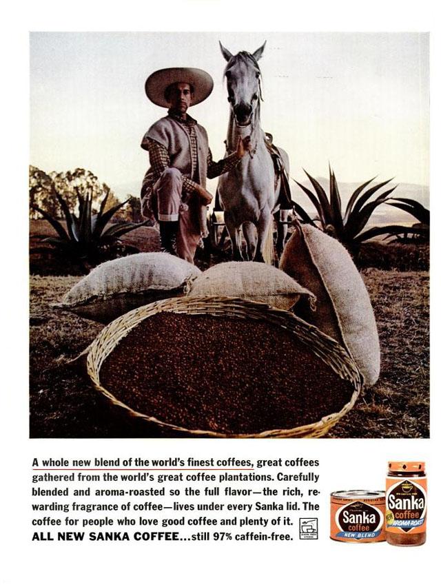 Vintage Sanka coffee ad (1962)