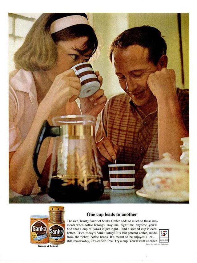 Vintage Sanka coffee ad (1964)