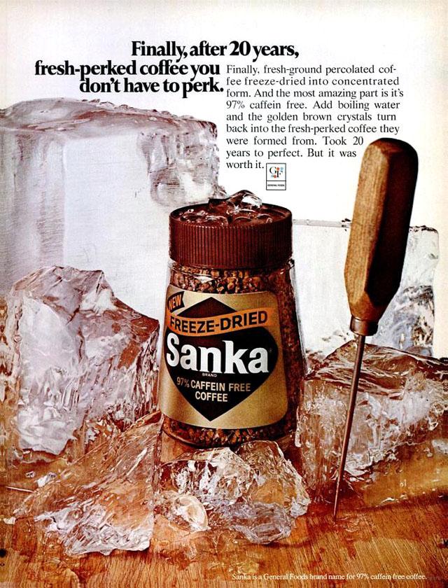 Vintage Sanka coffee ad (1969)