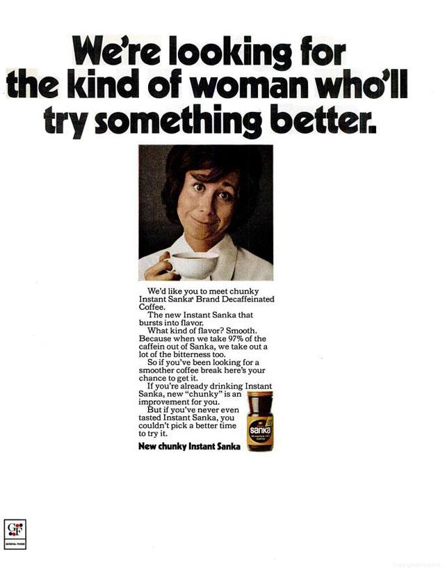 Vintage Sanka coffee ad (1971)