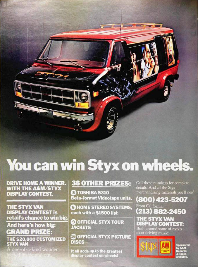 You Know You Want This Styx Van from 1979, So Don't Pretend Otherwise