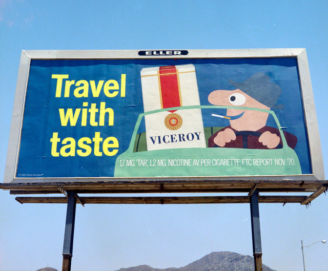 "Viceroy Cigarettes ""Travel With Taste"" billboard ad"