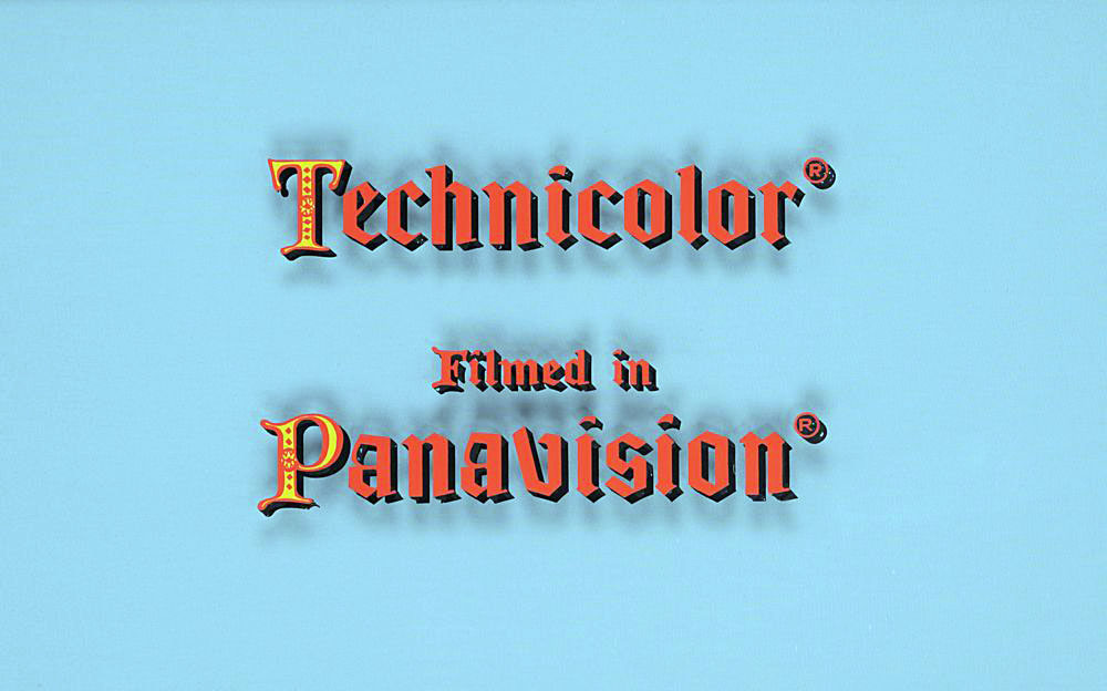 Technicolor/Panavision camera title art from Camelot (1967)