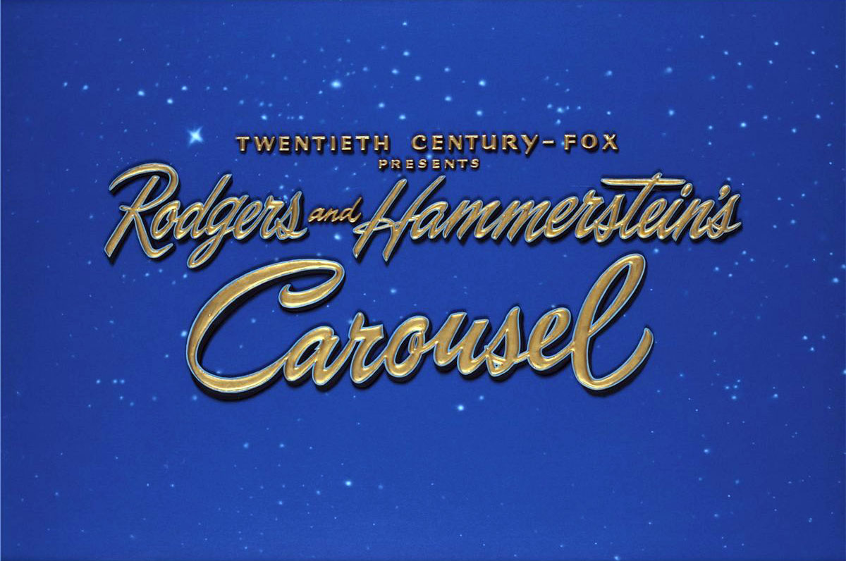 Carousel (1956) vintage movie title camera art