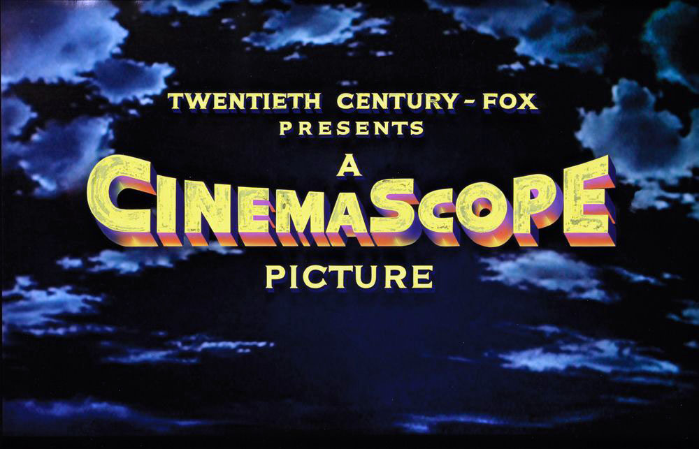 Twentieth Century Fox CinemaScope (c. 1950s) vintage camera title art