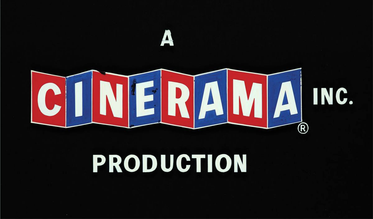 Cinerama (1960s) movie title camera art