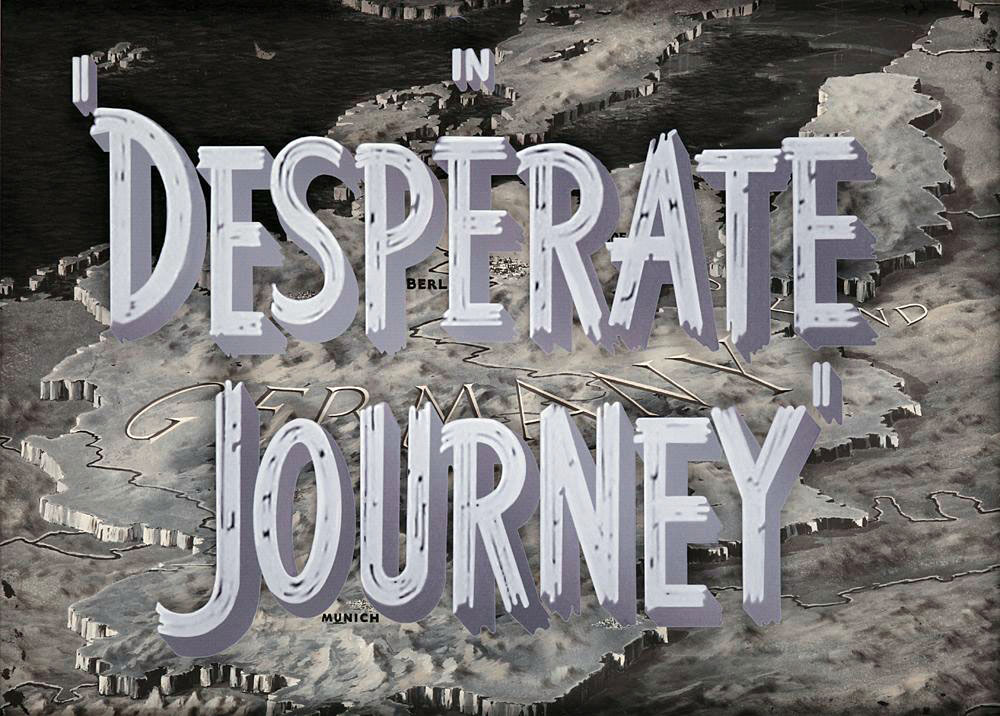 Desperate Journey (1942) camera title art