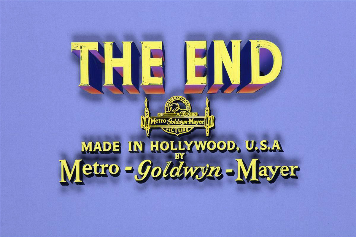 "MGM ""The End"" movie title art (1950s)"