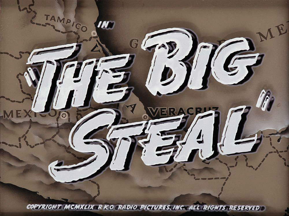 The Big Steal title camera art