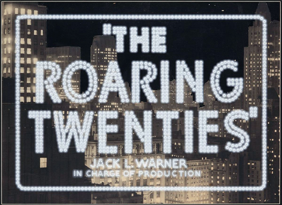 The Roaring Twenties (1939) vintage movie title camera art