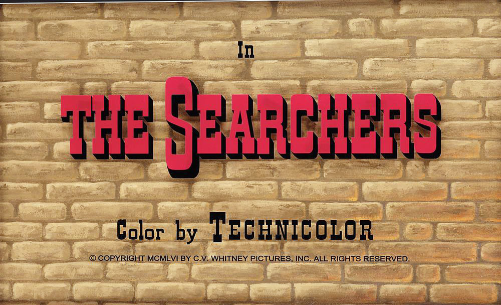 The Searchers (1956) movie title camera art