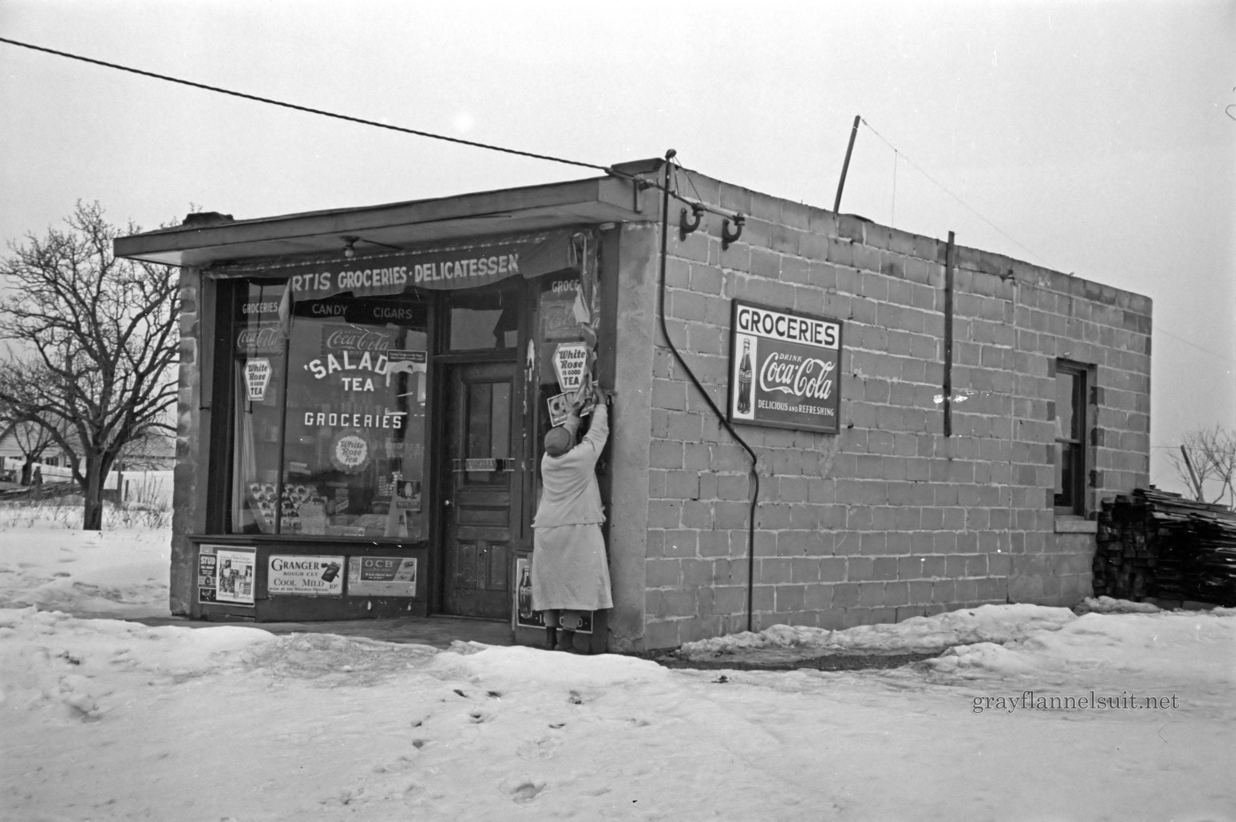 Vintage Photograph of a Franklin Township Deli, 1936