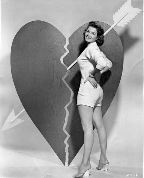 Vintage Valentine's Day Pin-Up - Angie Dickinson