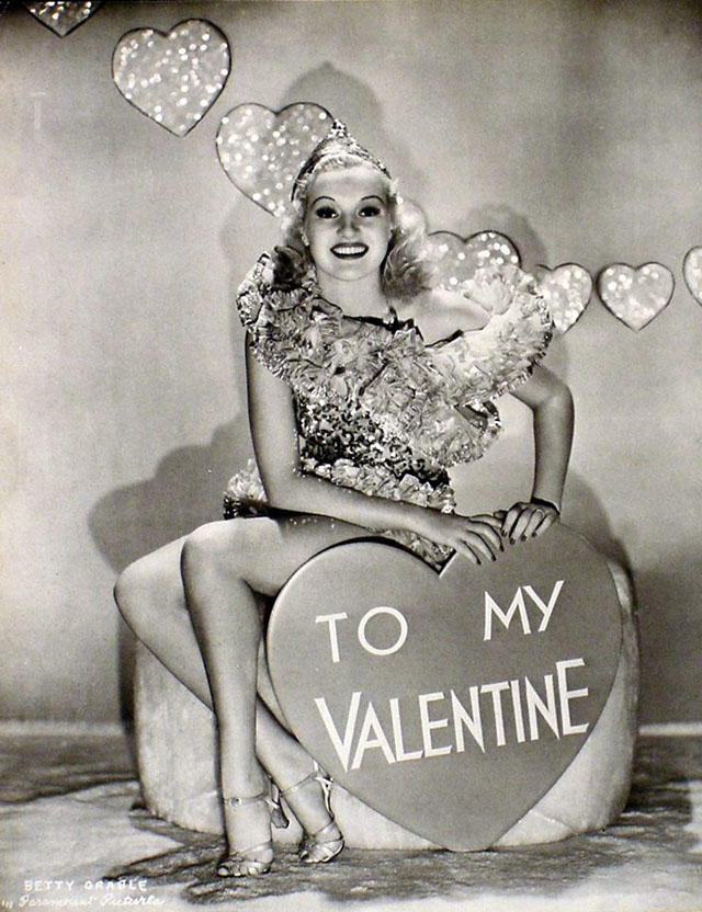 Vintage Valentine's Day Pin-Up - Betty Grable