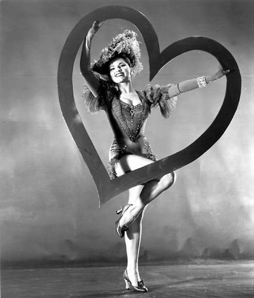 Vintage Valentine's Day Pin-Up - Debra Paget