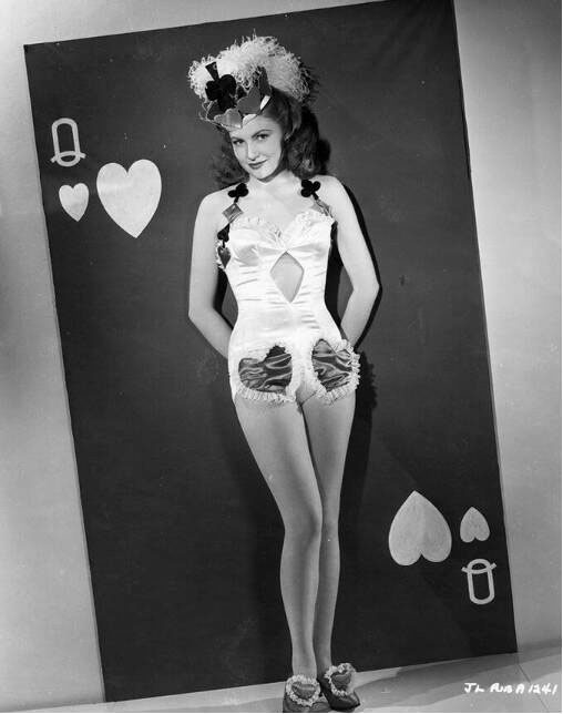 Vintage Valentine's Day Pin-Up - Joan Leslie