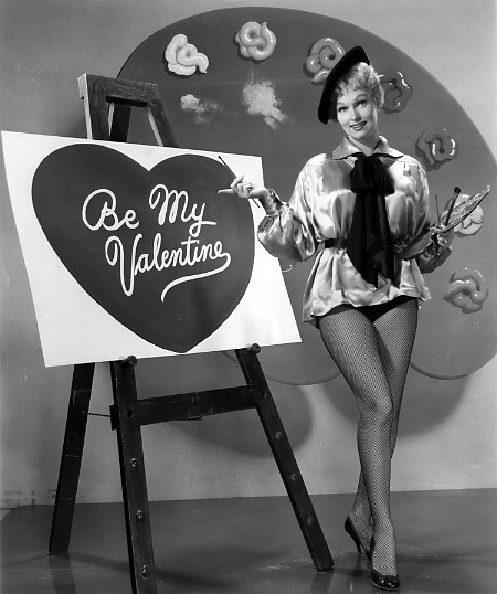 Vintage Valentine's Day Pin-Up - Karen Steele