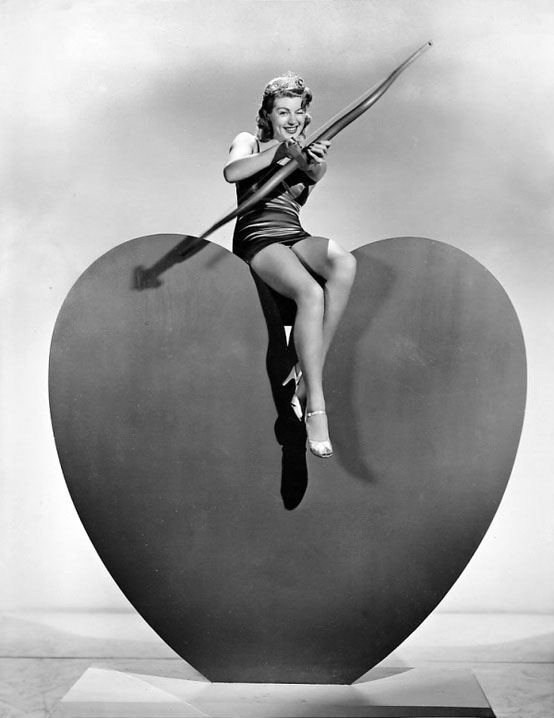 Vintage Valentine's Day Pin-Up - Lana Turner