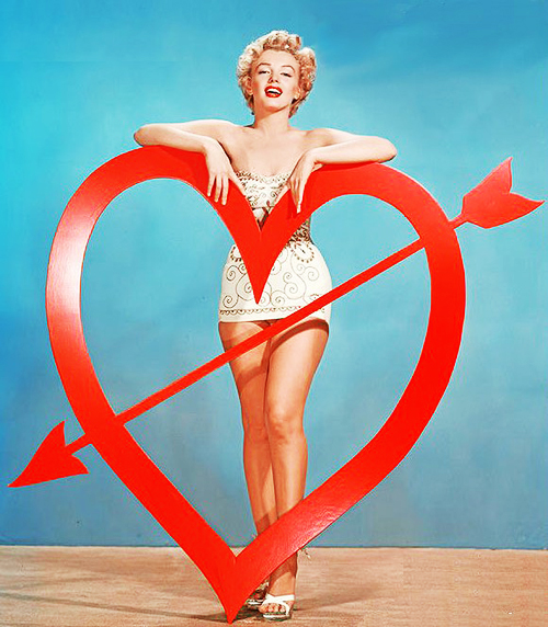 Vintage Valentine's Day Pin-Up - Marilyn Monroe