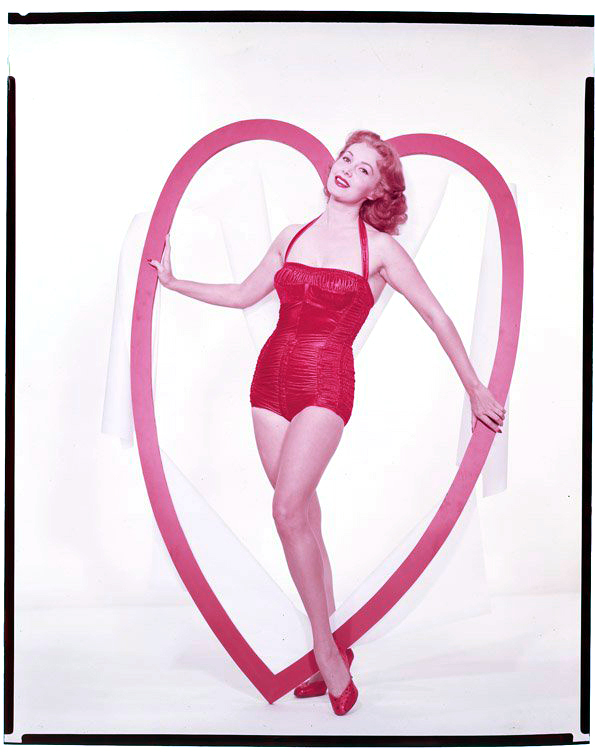 Vintage Valentine's Day Pin-Up - Rhonda Fleming