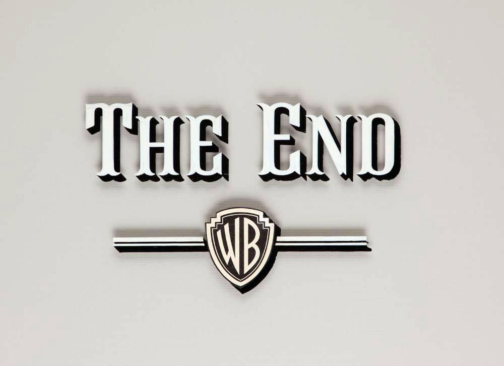 "Warner Bros. ""The End"" (late 1950s) movie title camera art"