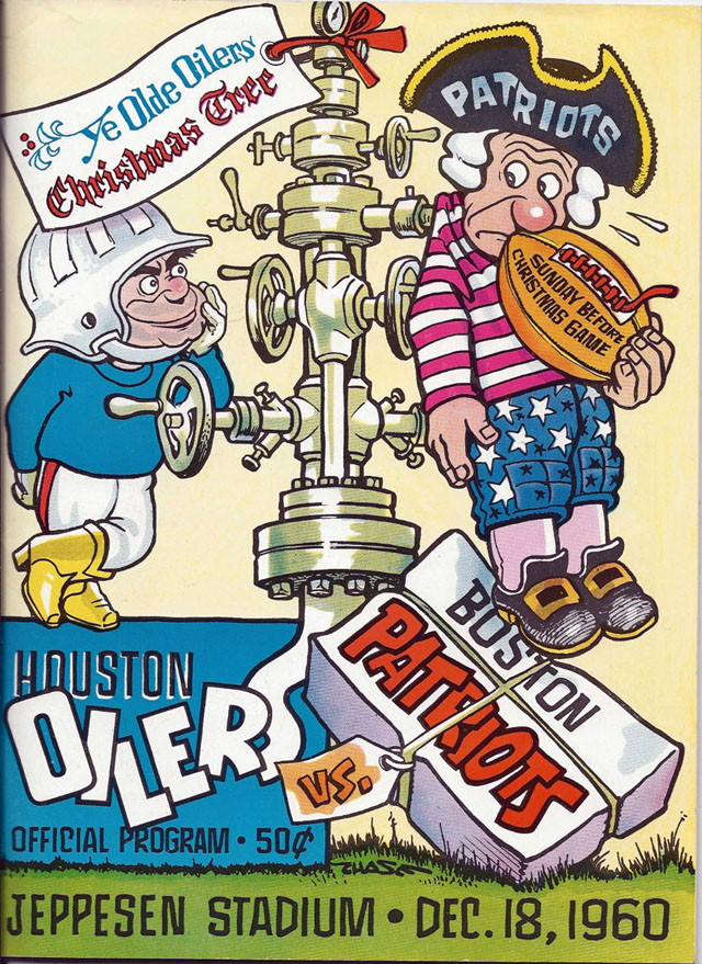 Boston Patriots at Houston Oilers — December 18, 1960 Jeppesen Stadium