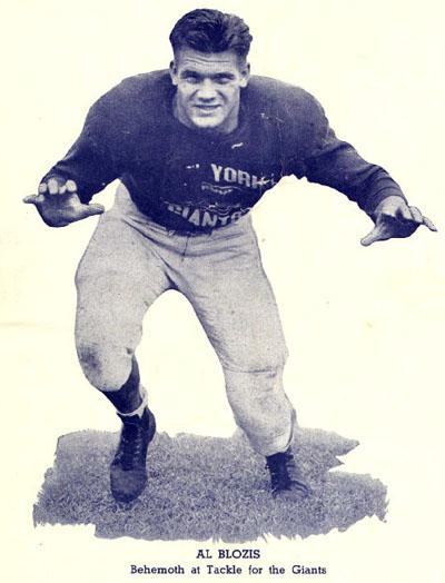New York Giants 1942 game program feat. Al Blozis (#32)