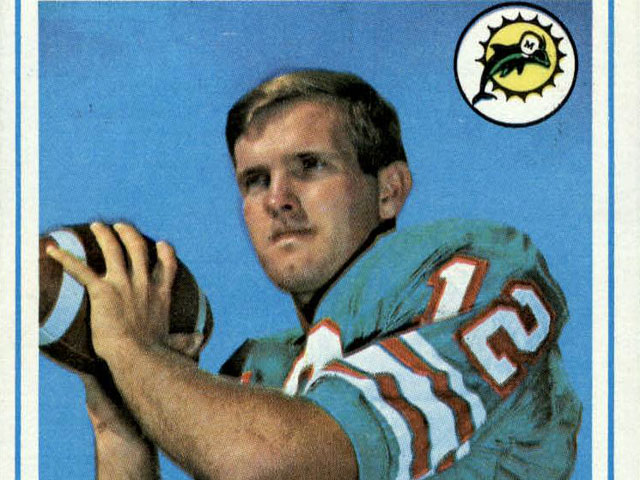 Bob Griese 1968 Topps football card