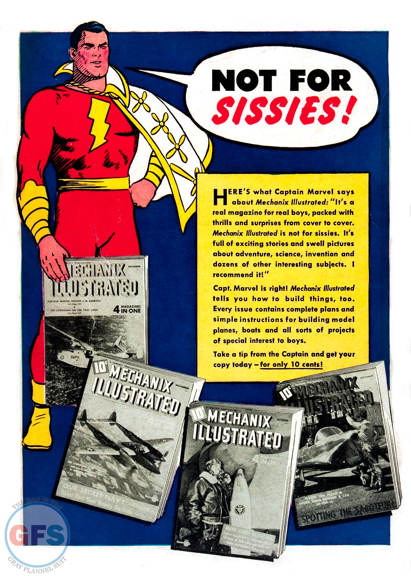 Captain Marvel Mechanix Illustrated ad (1942)