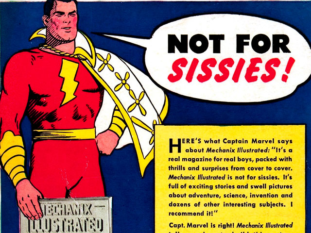 Great Moments in Comic Book Advertising, Vol. 2: Captain Marvel for Mechanix Illustrated