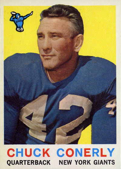 Charlie Conerly 1959 Topps football card