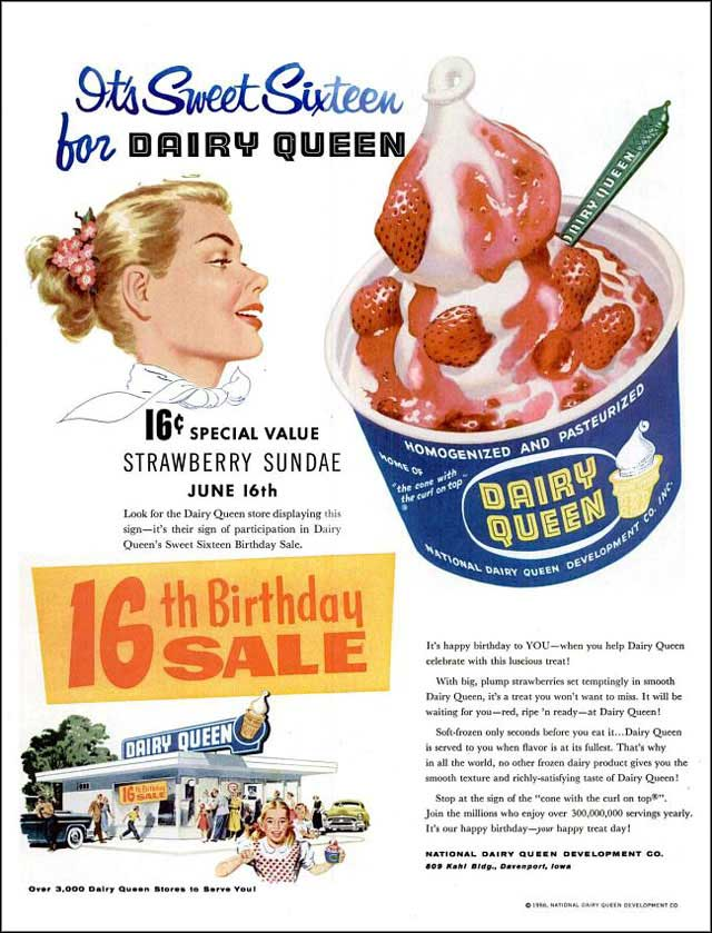 Dairy Queen ad (1956) with logo