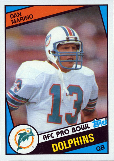 Dan Marino 1984 Topps football card