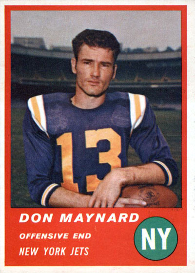 Don Maynard 1963 Fleer football card