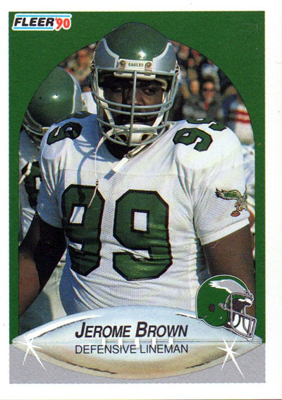 Jerome Brown 1990 Fleer football card