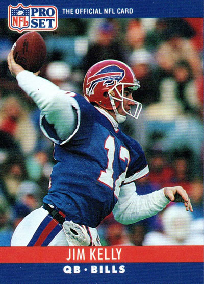 Jim Kelly 1990 Pro Set football card