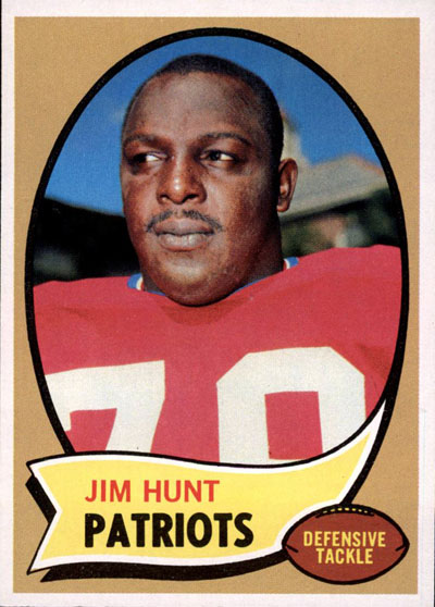 Jim Lee Hunt 1970 Topps football card