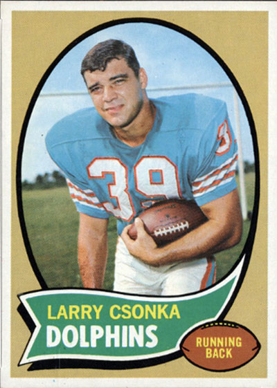 Larry Csonka 1970 Topps football card