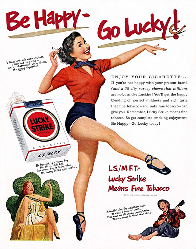 Lucky Strike (1951) St. Patrick's Day ad